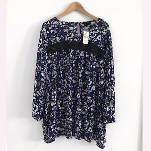 NWT Lane Bryant floral Top Blouse Shirt Size 24